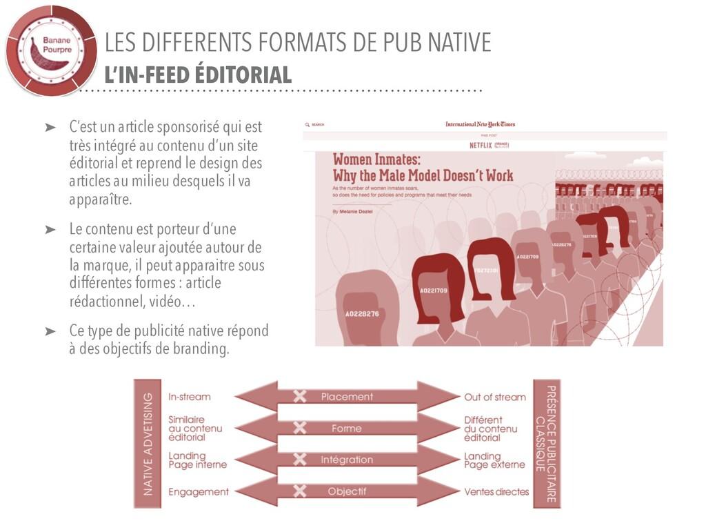 LES DIFFERENTS FORMATS DE PUB NATIVE L'IN-FEED ...
