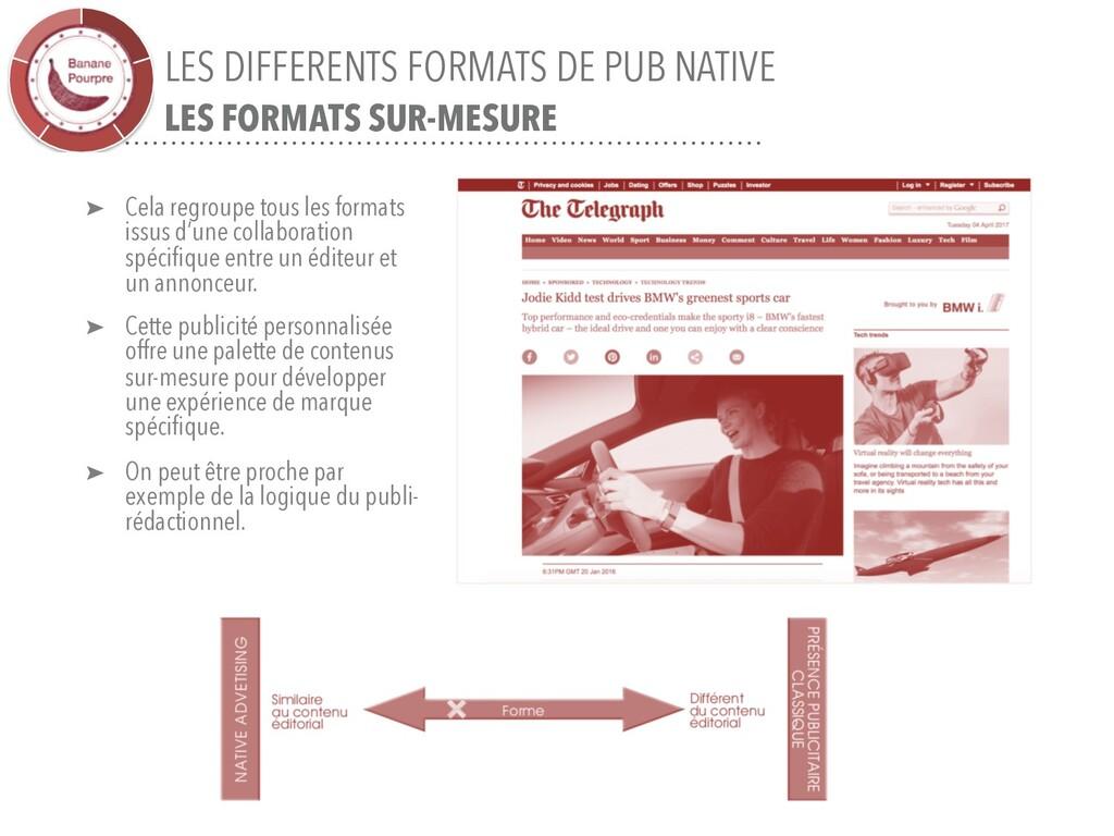 LES DIFFERENTS FORMATS DE PUB NATIVE LES FORMAT...
