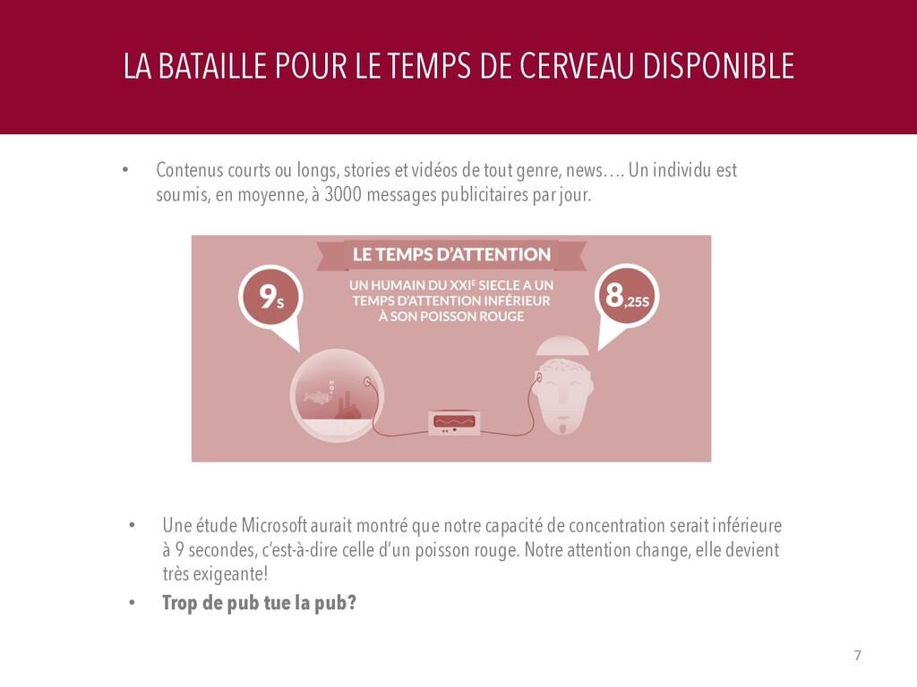 LA BATAILLE POUR LE TEMPS DE CERVEAU DISPONIBLE...