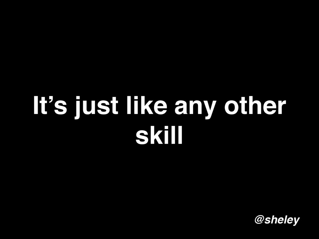 It's just like any other skill @sheley