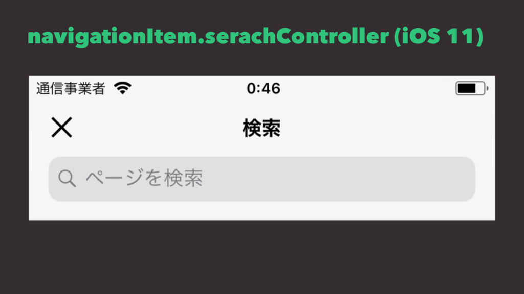 navigationItem.serachController (iOS 11)