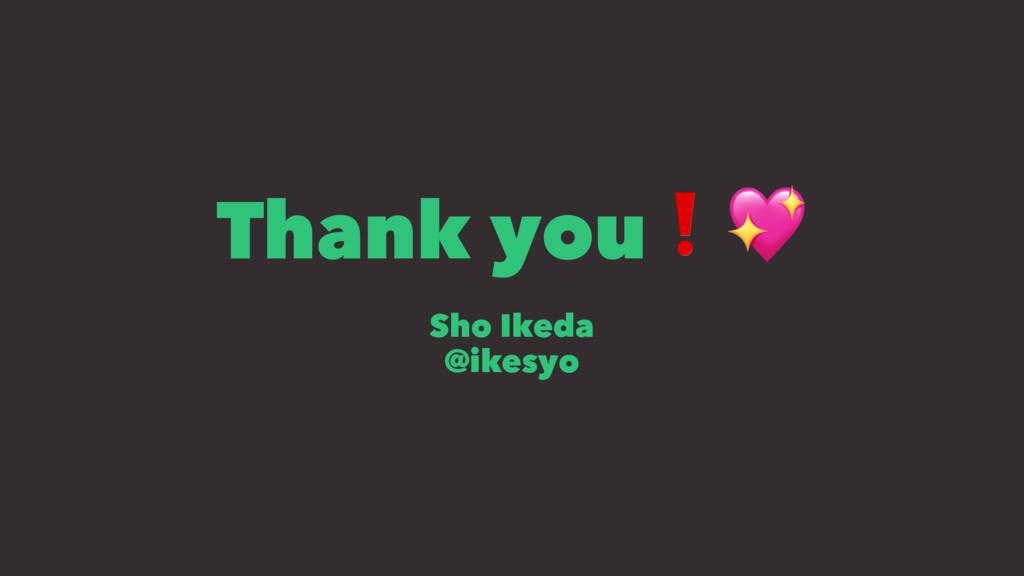 """Thank you❗"""" Sho Ikeda @ikesyo"""