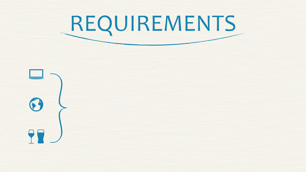 REQUIREMENTS    }