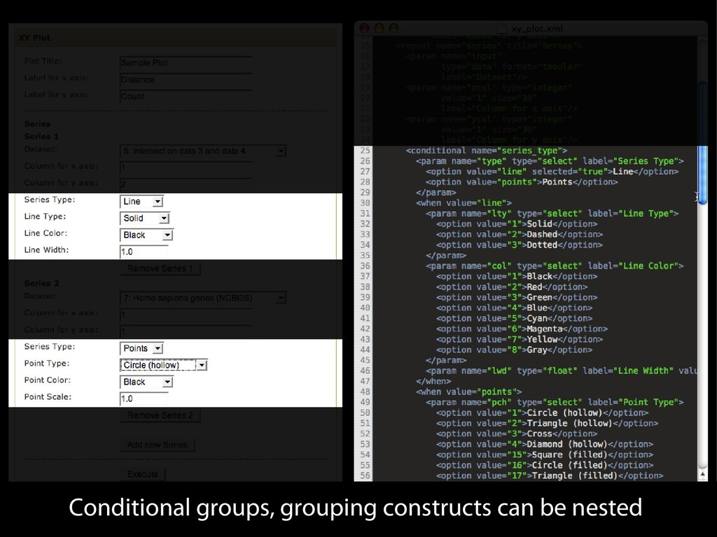 Conditional groups, grouping constructs can be ...