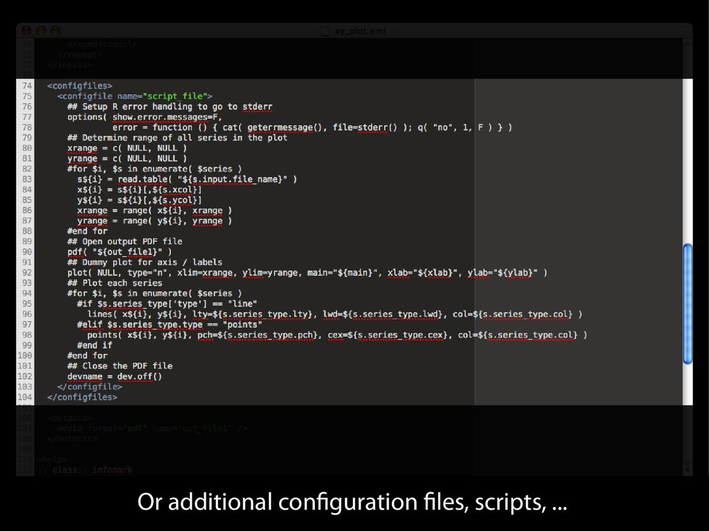 Or additional configuration files, scripts, ...