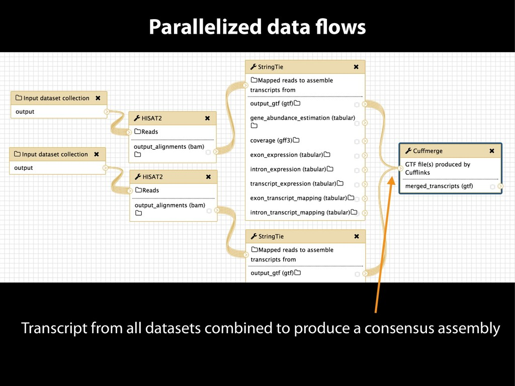 Parallelized data flows Transcript from all dat...