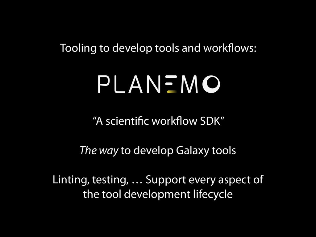 """Tooling to develop tools and workflows: """"A scie..."""