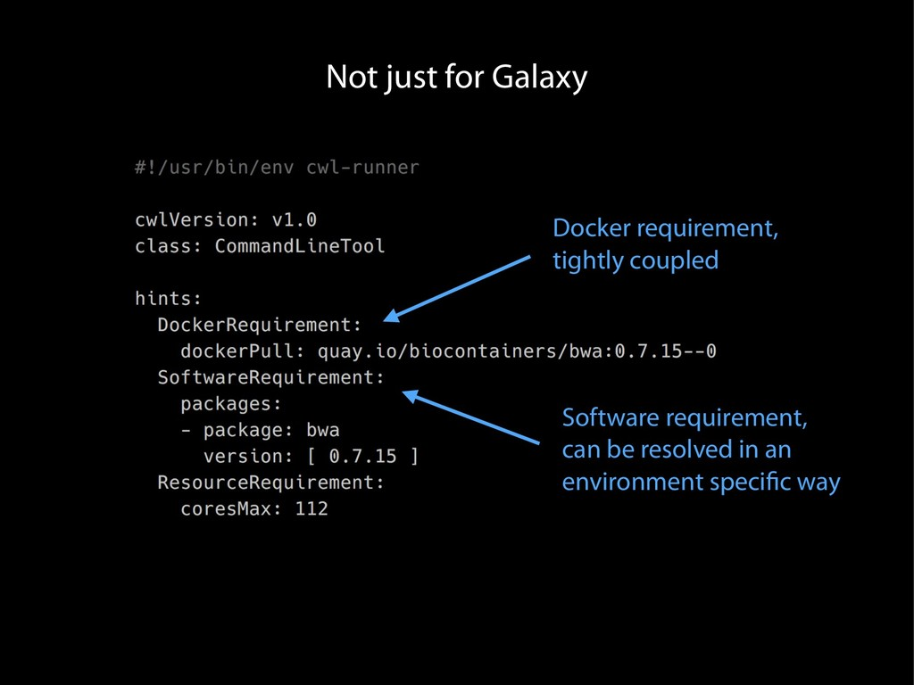 Not just for Galaxy Docker requirement, tightly...