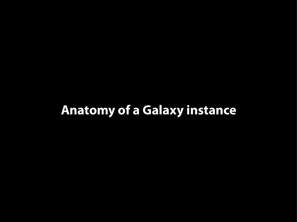 Anatomy of a Galaxy instance