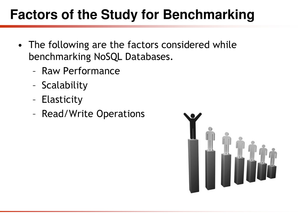 Factors of the Study for Benchmarking • The fol...