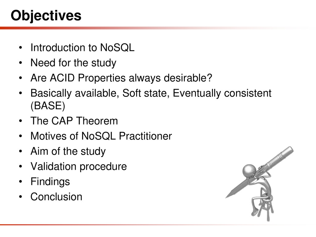 Objectives • Introduction to NoSQL • Need for t...