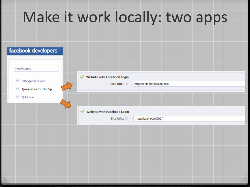 Make it work locally: two apps