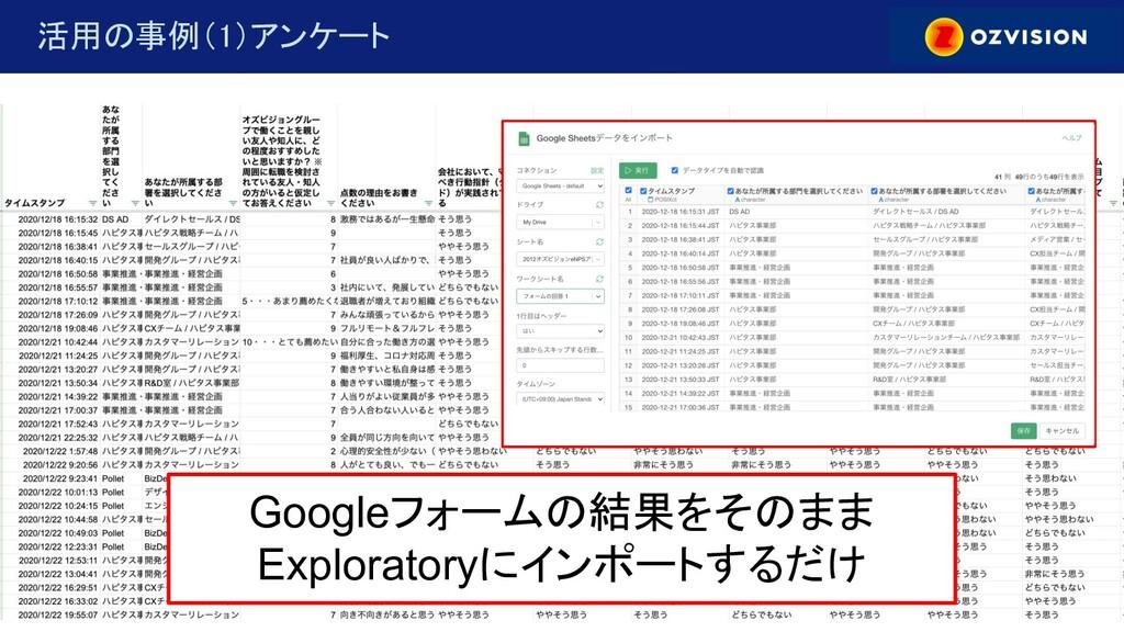 © copylight OZVISION inc. 活用の事例(1)アンケート Googl...