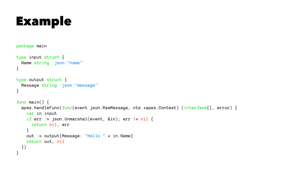 Example package main type input struct { Name s...