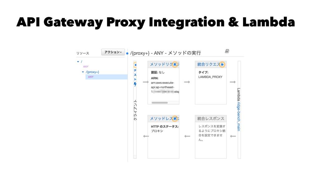 API Gateway Proxy Integration & Lambda