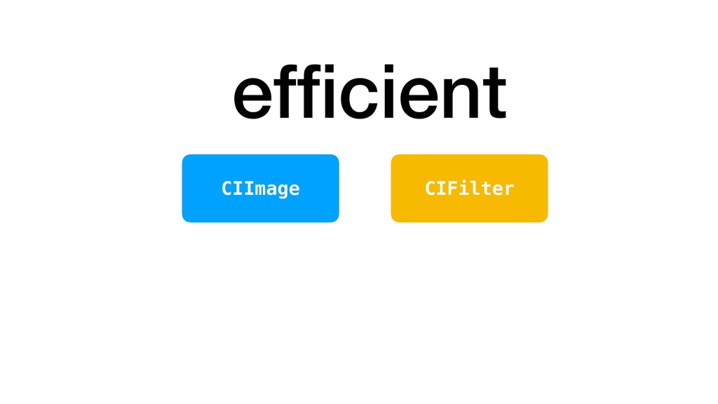 efficient CIFilter CIImage