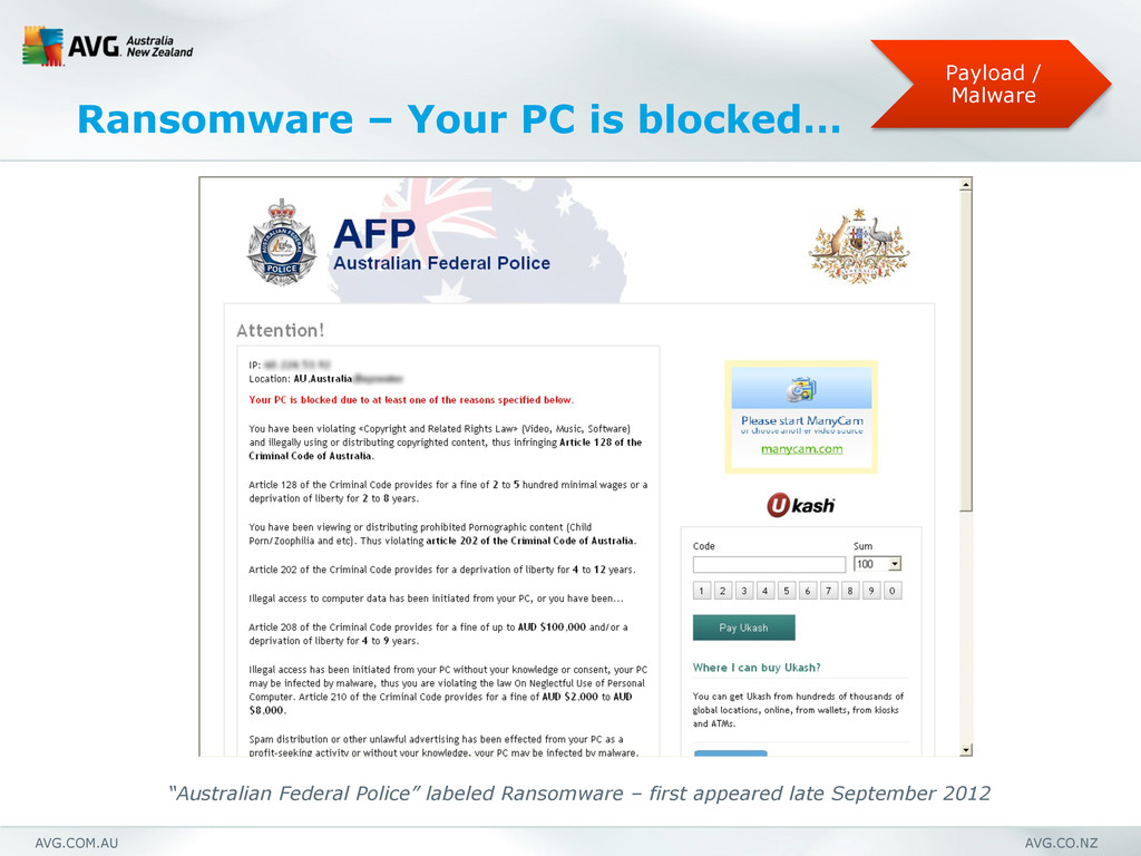 AVG.COM.AU AVG.CO.NZ Ransomware – Your PC is bl...