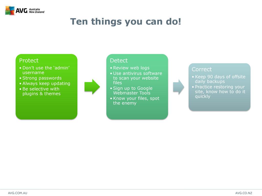 AVG.COM.AU AVG.CO.NZ Ten things you can do! Pro...