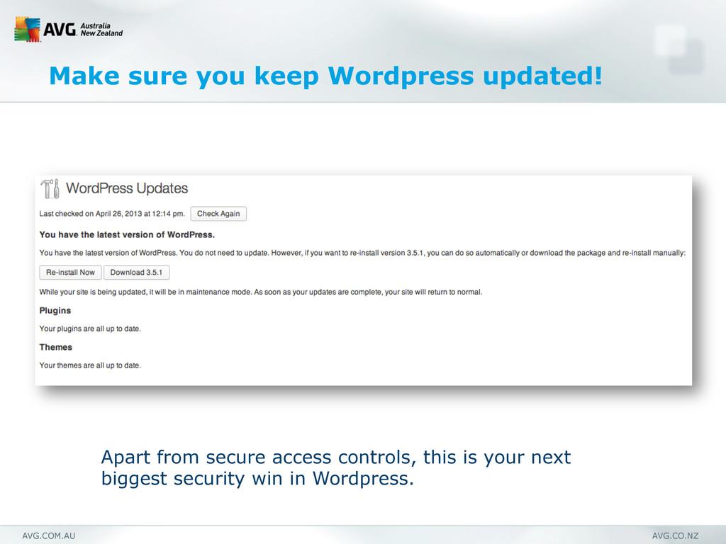 AVG.COM.AU AVG.CO.NZ Make sure you keep Wordpre...