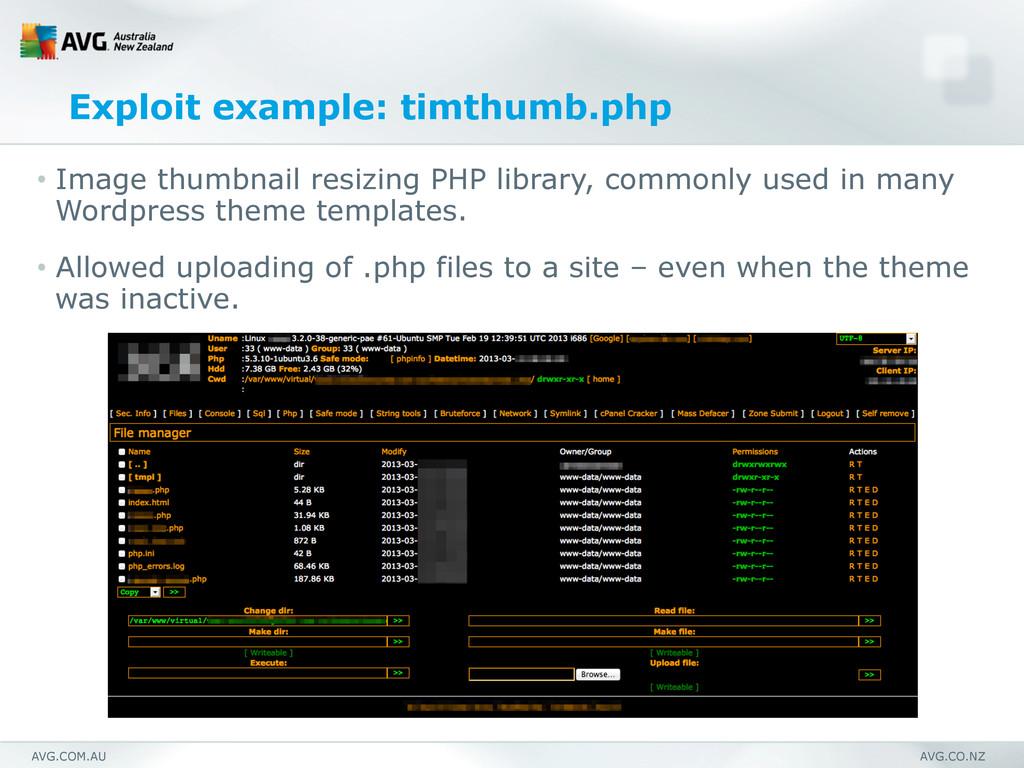 AVG.COM.AU AVG.CO.NZ Exploit example: timthumb....