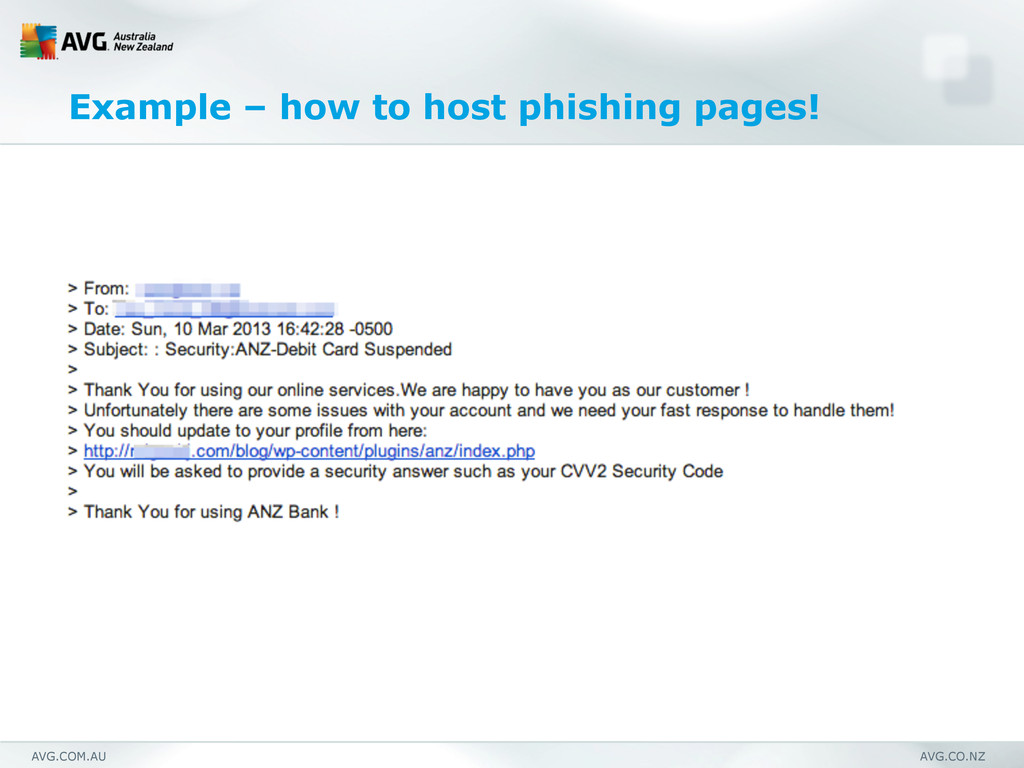 AVG.COM.AU AVG.CO.NZ Example – how to host phis...