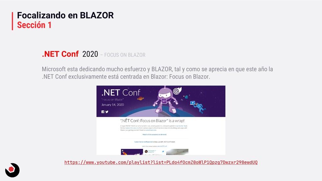 Focalizando en BLAZOR Sección 1 Microsoft esta ...