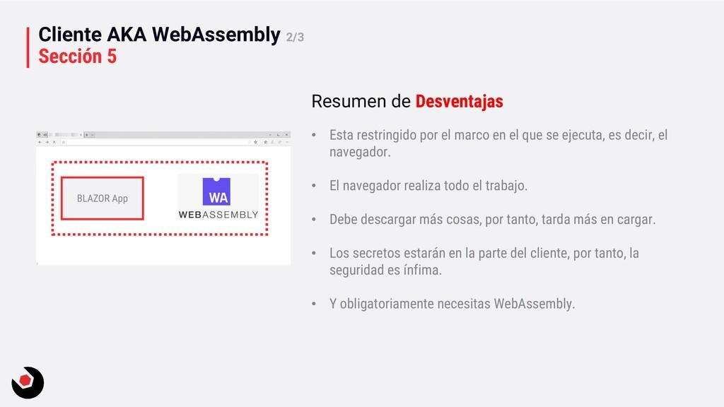 Cliente AKA WebAssembly 2/3 Sección 5 BLAZOR Ap...