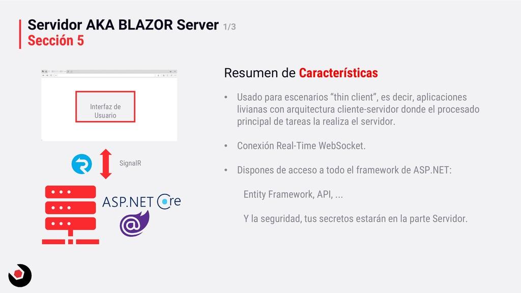 Servidor AKA BLAZOR Server 1/3 Sección 5 Interf...
