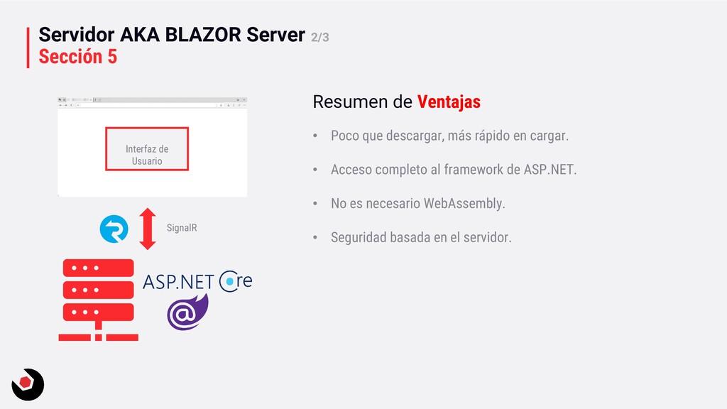 Servidor AKA BLAZOR Server 2/3 Sección 5 Interf...