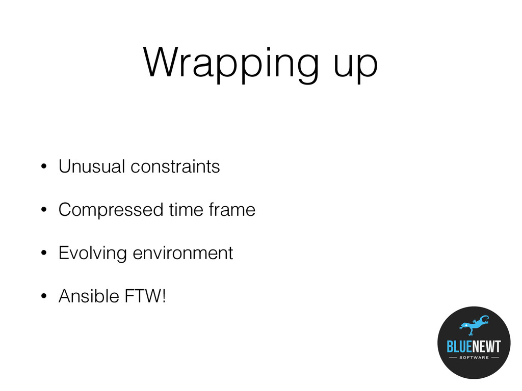 Wrapping up • Unusual constraints • Compressed ...