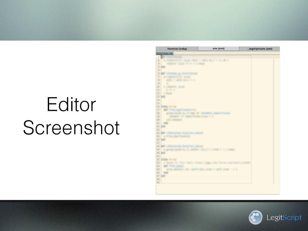 LegitScript Editor Screenshot