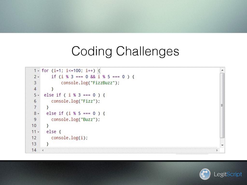 LegitScript Coding Challenges