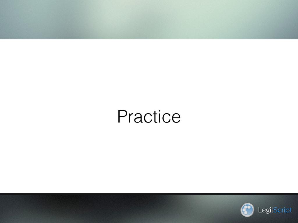 Practice LegitScript