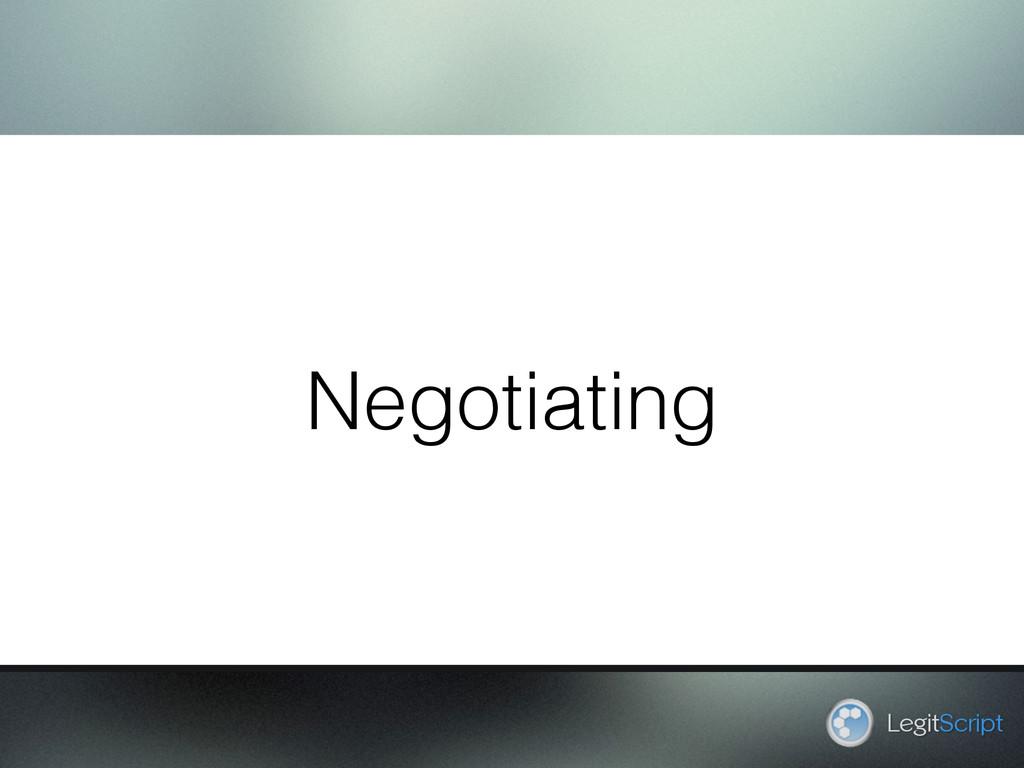 Negotiating LegitScript