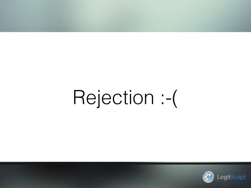 Rejection :-( LegitScript