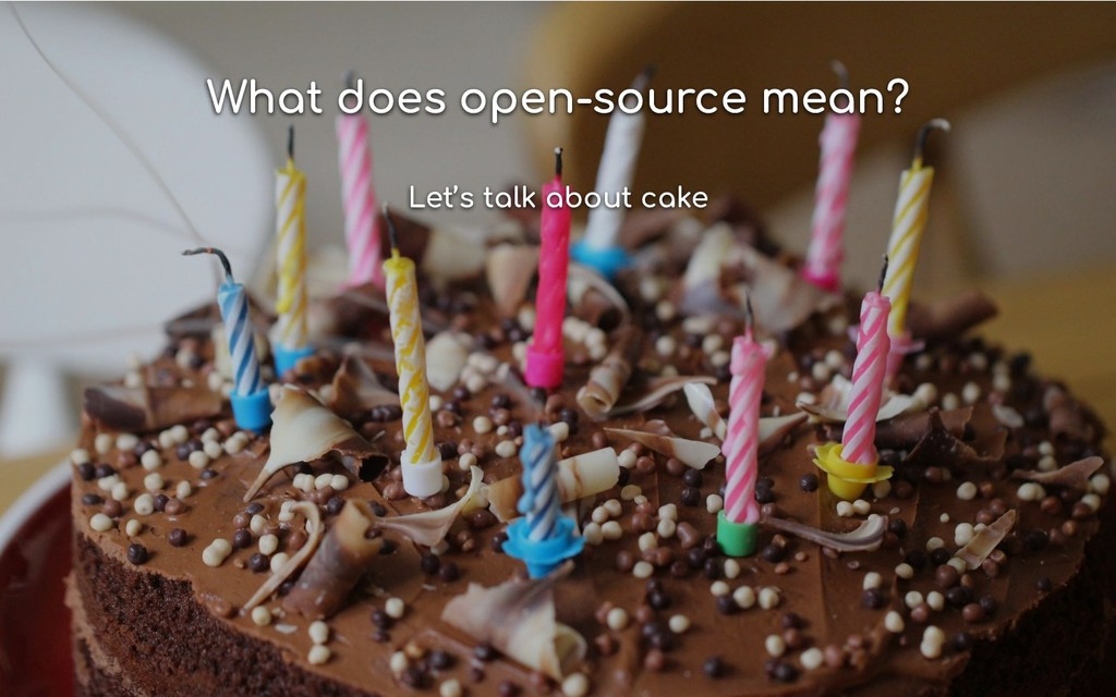 What does open-source mean? Let's talk about ca...