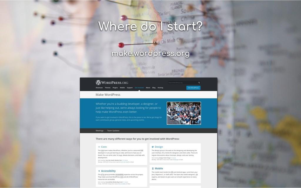Where do I start? make.wordpress.org
