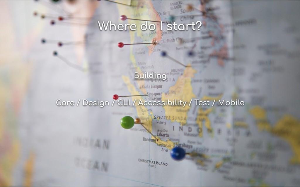 Where do I start? Building Core / Design / CLI ...