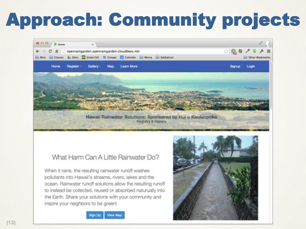 (13) Approach: Community projects