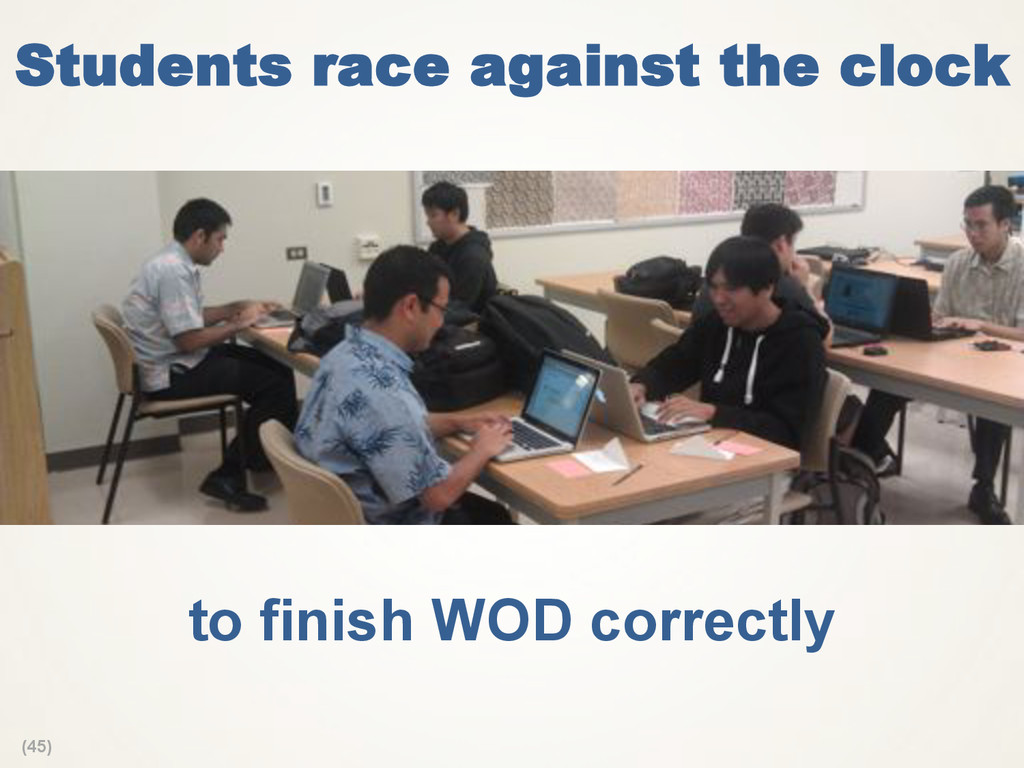 (45) Students race against the clock to finish ...