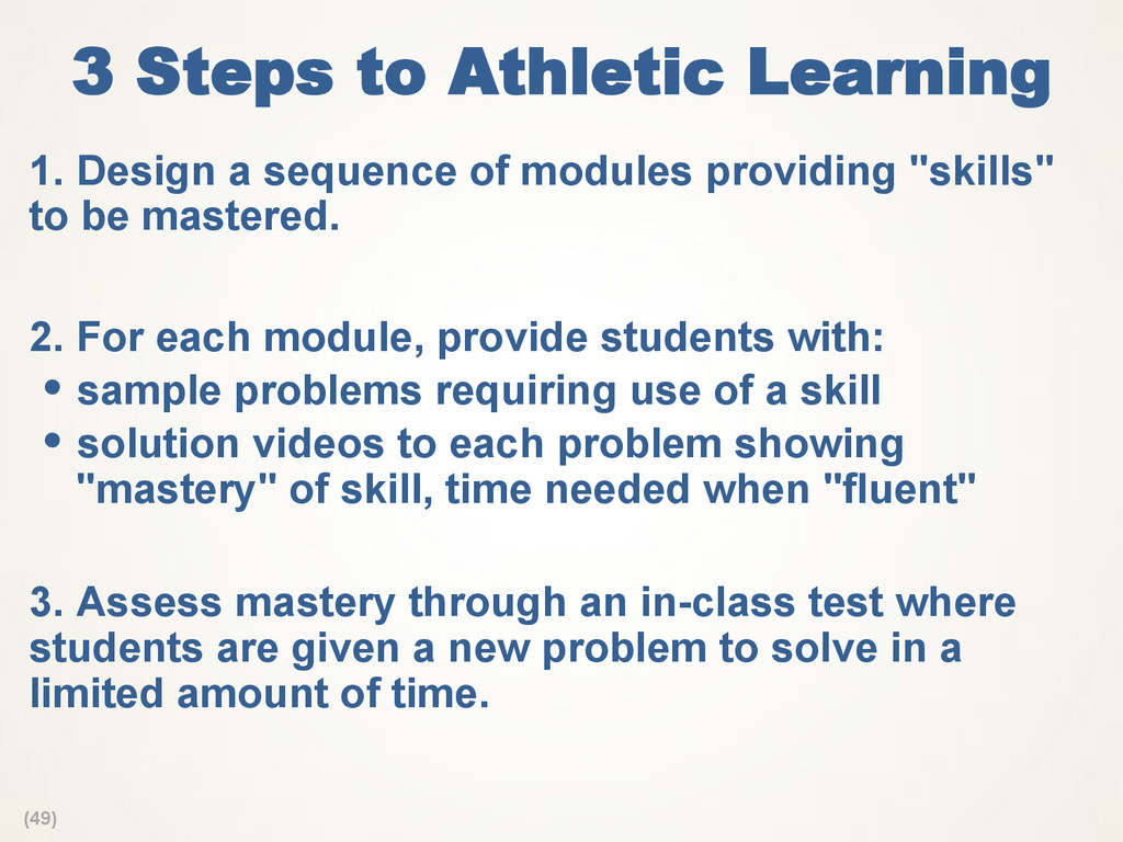 (49) 3 Steps to Athletic Learning 1. Design a ...