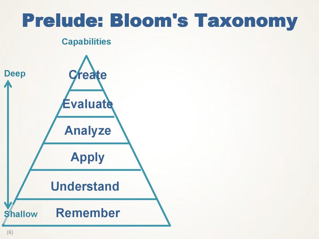 (6) Prelude: Bloom's Taxonomy Analyze Apply Rem...