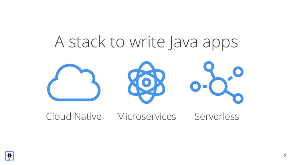 !2 A stack to write Java apps Cloud Native Micr...