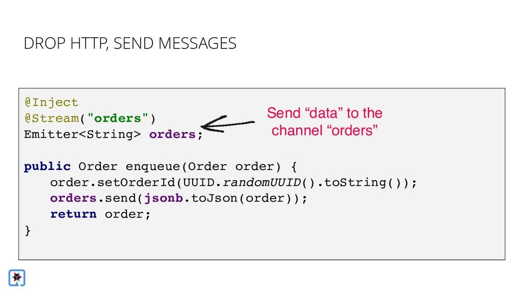 Bridge imperative -> reactive DROP HTTP, SEND M...