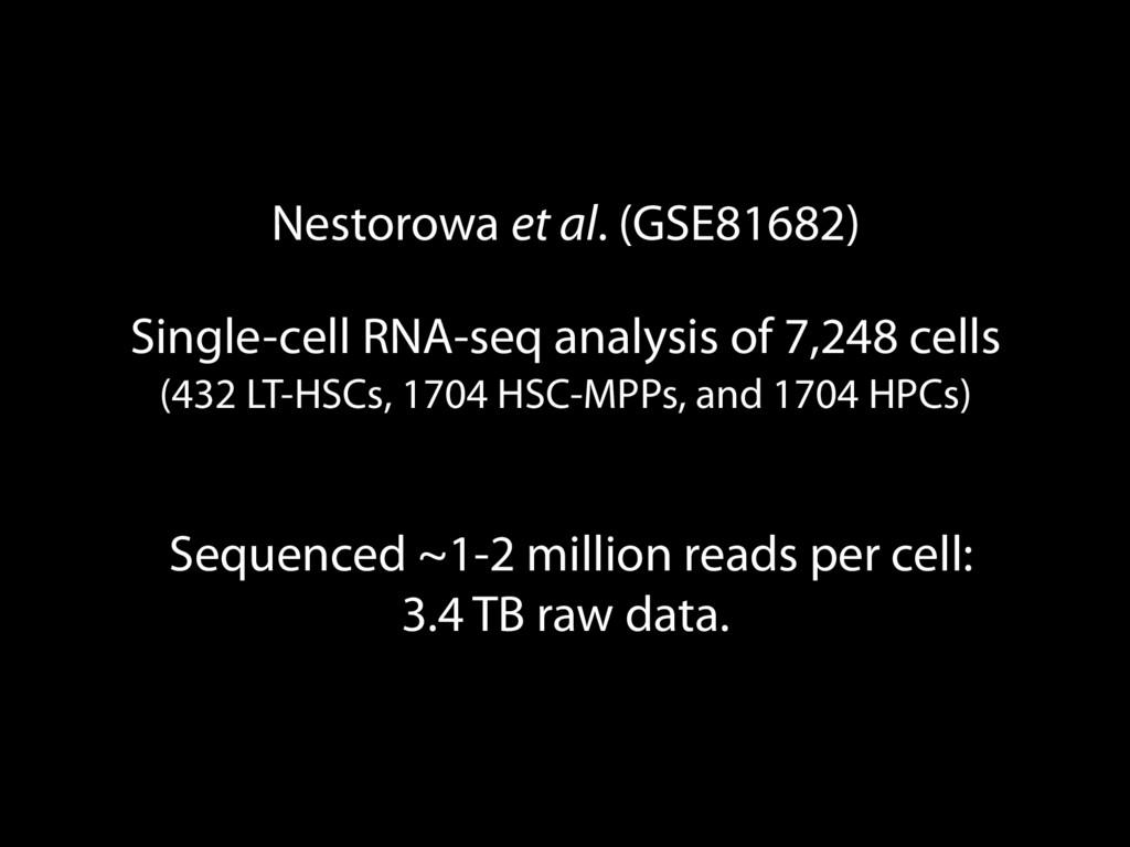 Nestorowa et al. (GSE81682) Single-cell RNA-seq...