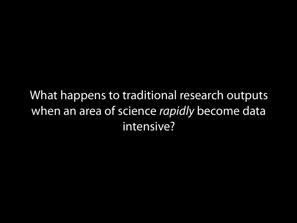 What happens to traditional research outputs wh...