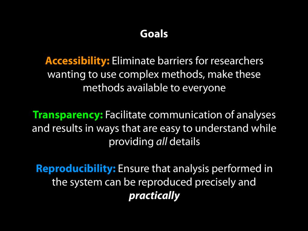 Goals Accessibility: Eliminate barriers for res...