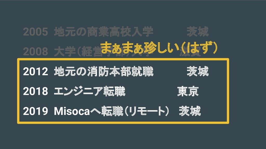 2005 地元の商業高校入学    茨城 2008 大学(経営学部)入学   滋賀 2012 ...