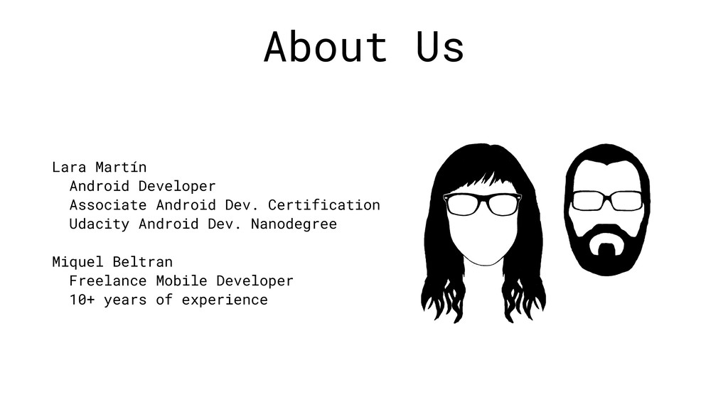 About Us Lara Martín Android Developer Associat...